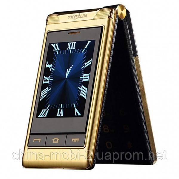 Tkexun G300 gold. Dual screen. Flip
