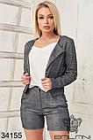 Женский костюм тройка -шорты, пиджак , майка (42-44;44-46р), фото 3