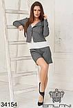 Женский костюм тройка -шорты, пиджак , майка (42-44;44-46р), фото 7