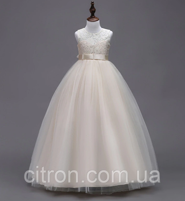 Платье пудра бальное выпускное длинное в пол нарядное для девочки в садик или школу