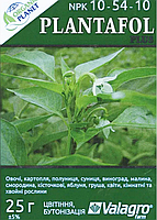 Plantafol (Плантафол), Минеральное удобрение, 25 г, NPK 10-54-10, Valagro