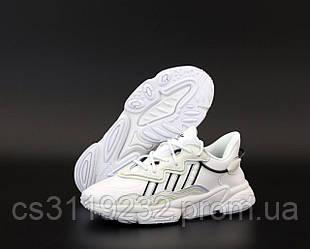 Женские кроссовки Adidas Ozweego White (белые)