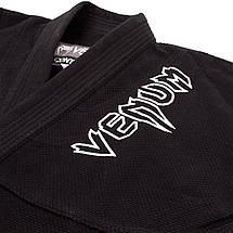 Кимоно для джиу-джитсу Venum Contender 2.0 BJJ Gi Black, фото 3