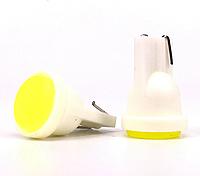 T10 COB LED W5W лампочка автомобильная - желтая, фото 1