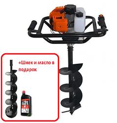 Мотобур Энергомаш МБ-1530А, 1250Вт + Шнет 200мм и масло