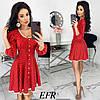 Сукня жіноча в горошок (5 кольорів) ЕФ/-506 - Червоний