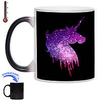 Чашка-хамелеон Блестящий единорог 330 мл, фото 1