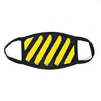 Маска мужская | женская защитная многоразовая тканевая Off-White yellow