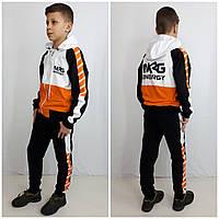 Модный спортивний костюм NRG чорний/помаранчевий