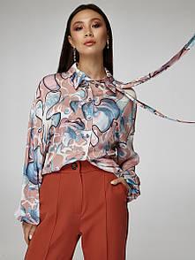 2416 блуза Салерно, принт розовый