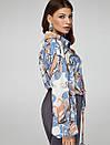 2416 блуза Салерно,принт голубой, фото 2