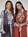 2416 блуза Салерно,принт голубой, фото 6