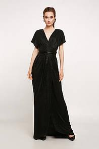 Вечернее платье с открытой спиной черное, код 2189