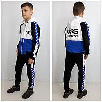 Модный спортивний костюм NRG чорний/синій, фото 1