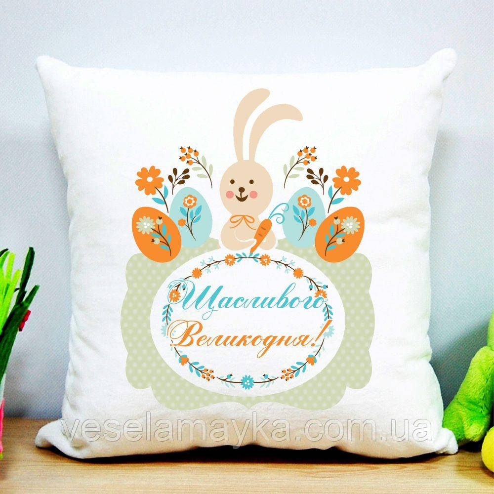 Дитяча подушка Великодній кролик