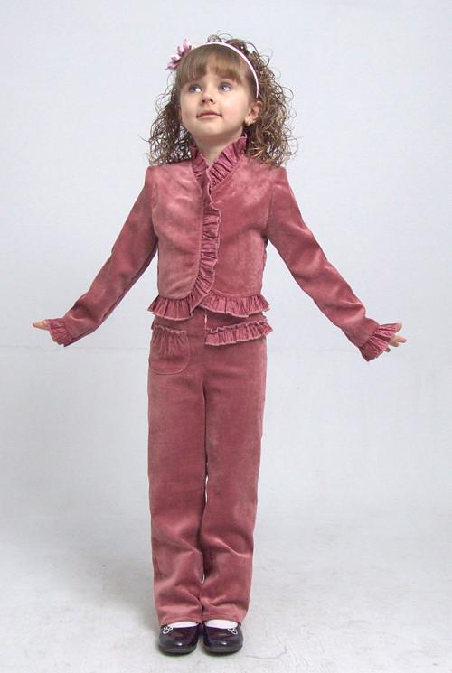 """Костюм брючний для дівчинки М-587 зростання 110 116 122 і 134 рожевий тм """"Попелюшка"""""""