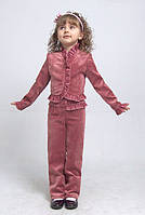 """Костюм брючный для девочки М-587 рост 110 116 122 и 134 розовый тм """"Попелюшка"""", фото 1"""