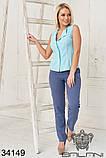 Женский стильный летний брючный костюм с блузкой (42-44;44-46р)5расцв, фото 4