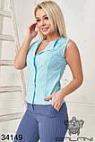 Женский стильный летний брючный костюм с блузкой (42-44;44-46р)5расцв, фото 6