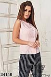 Женский стильный летний брючный костюм с блузкой (42-44;44-46р)5расцв, фото 7