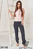 Женский стильный летний брючный костюм с блузкой (42-44;44-46р)5расцв, фото 8