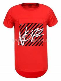 Удлиненная футболка для мальчика