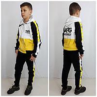 Модный спортивний костюм NRG чорний/жовтий, фото 1