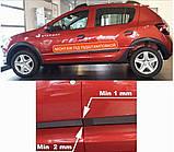 Молдинги на двери для Renault Dacia Sandero Stepway II 2012+, фото 5