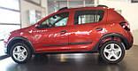 Молдинги на двери для Renault Dacia Sandero Stepway II 2012+, фото 3