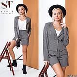 Женский костюм тройка -шорты, пиджак , майка (42-44;44-46р), фото 2