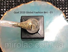 Гель-лак Opal #01  8ml Global fashion