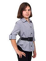 Блузка детская для девочек школьная м 808  рост 128 134 и 158 клеточкалая, фото 1
