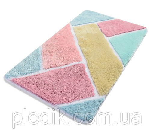 Коврик для ванной 60х100 Chilai Home розовай/голубой Colore renkli