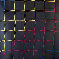 Сетка заградительная  D 2,5 мм, ячейка 12 см, сине-желто-красная для Республики Молдова