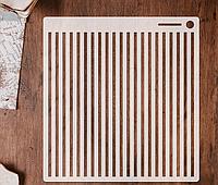 Трафарет 1 штамп теснение на стены шаблон ПОЛОСКИ для альбомов для скрапбукинга для творчества 160*150 мм