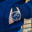 Часы мужские в стиле Armani. Мужские наручные часы черные. Часы с черным циферблатом Годинник чоловічий, фото 3