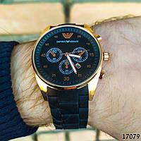 Часы мужские в стиле Armani. Мужские наручные часы коричневые Часы с коричневым циферблатом Годинник чоловічий