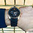 Часы мужские в стиле Armani. Мужские наручные часы черные. Часы с черным циферблатом Годинник чоловічий, фото 5