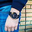 Часы мужские в стиле Armani. Мужские наручные часы черные. Часы с черным циферблатом Годинник чоловічий, фото 4