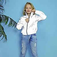 Куртка ветровка серая детская на девочку подростка