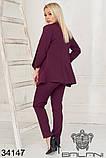 Женский стильный деловой брючный костюм тройка (р.42-46)., фото 4