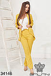 Женский стильный деловой брючный костюм тройка (р.42-46)., фото 10