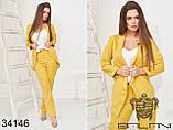Женский стильный деловой брючный костюм тройка (р.42-46)., фото 2
