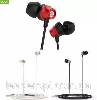 [ОПТ] Наушники проводные вакуумные Golf M18 Jewel sound Metal Bass Earphone с микрофоном