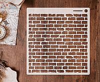 Трафарет 5 штамп теснение на стены шаблон КИРПИЧИ для альбомов для скрапбукинга для творчества 160*150 мм