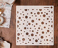 Трафарет 6 штамп теснение на стены шаблон Кружочки для альбомов для скрапбукинга для творчества 160*150 мм