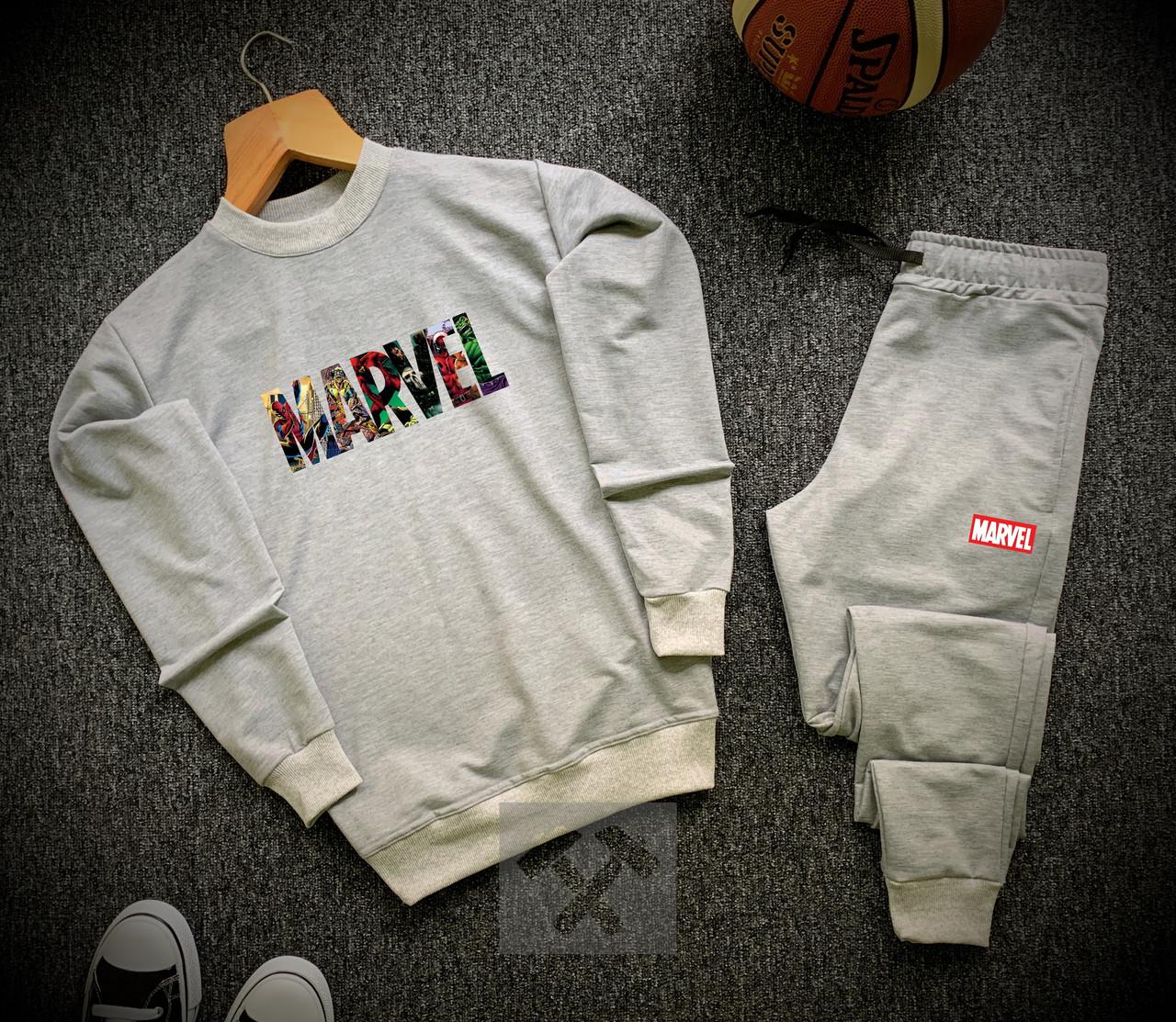 Спортивний костюм Marvel чоловічий сірий ЛЮКС якості
