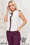 Красивый женский летний брючный костюм 42-44-46-48р.(3расцв), фото 4