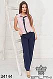 Красивый женский летний брючный костюм 42-44-46-48р.(3расцв), фото 5