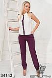 Красивый женский летний брючный костюм 42-44-46-48р.(3расцв), фото 8